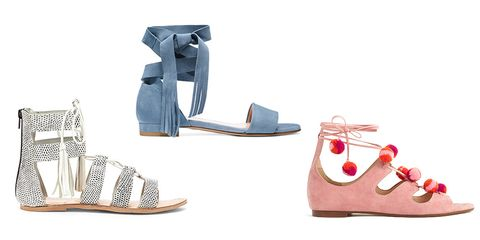 d80aac9ccc46 Sole Society   Stuart Weitzman   J. Crew. What s summer without a popping  pair of gladiator sandals
