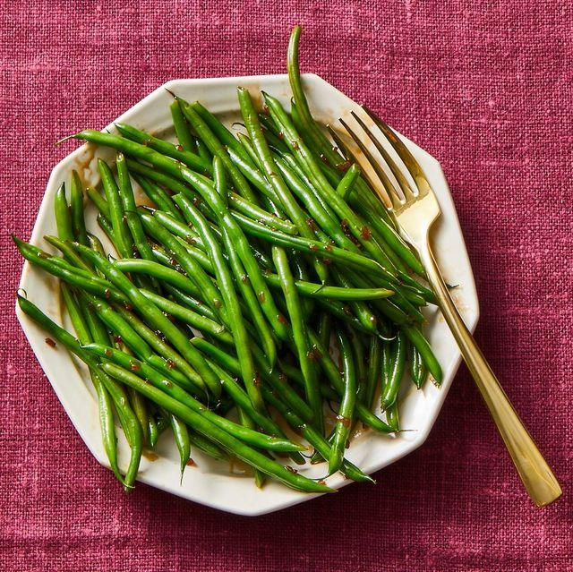 glazed green beans
