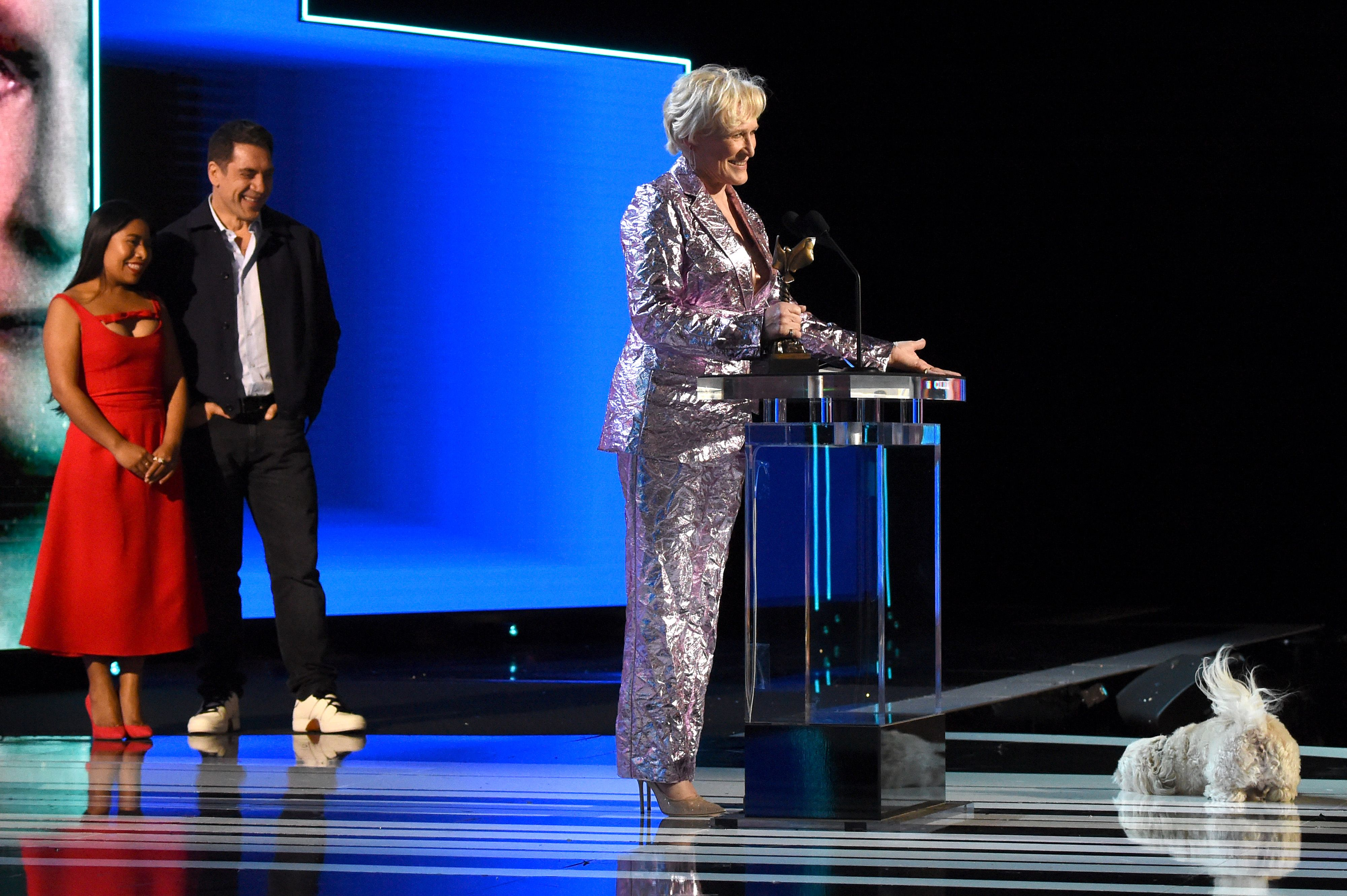 Pip and Glenn Close at the Independent Spirit Awards.