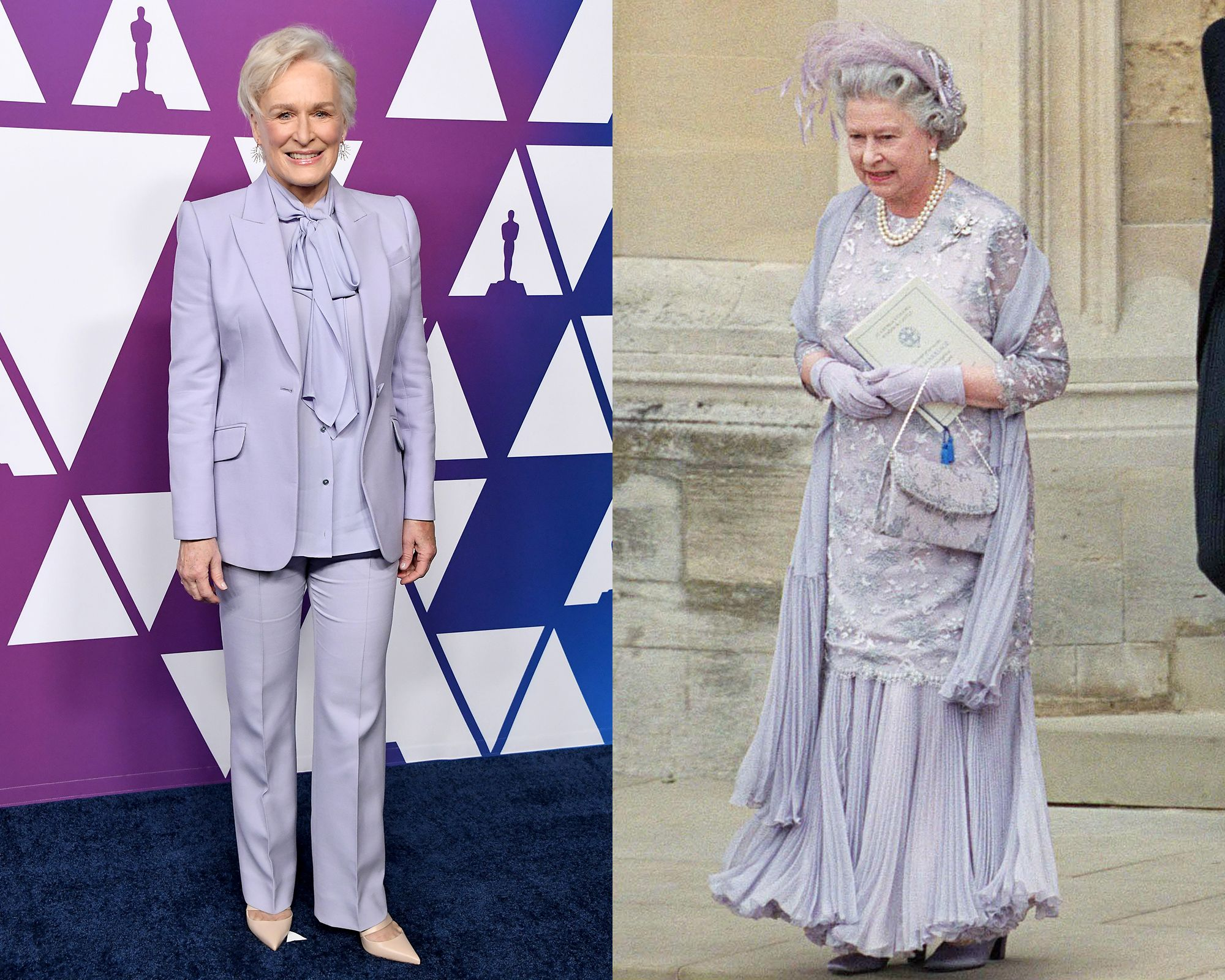 glenn close queen elizabeth matching