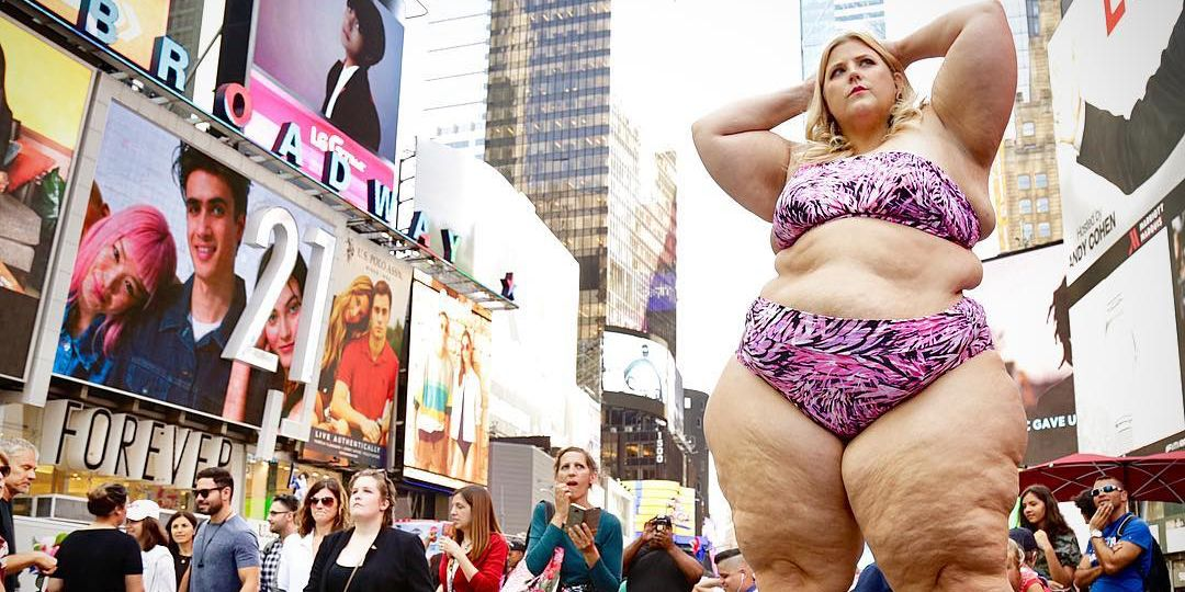 I Posed in a Bikini in Times Square. I Was Expecting Comments from Haters, But What I Actually Heard Was Way More Disheartening.