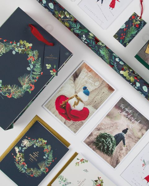 Marks & Spencer glitter-free Christmas cards and wrap