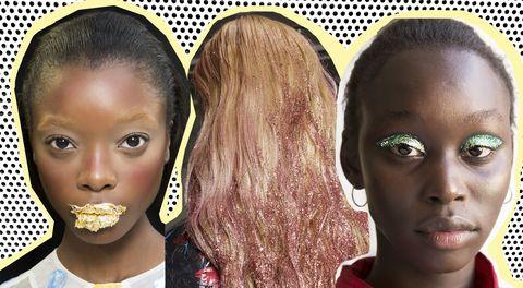 Make-uptrends 2019: glitter galore