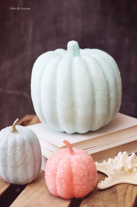 glitter pumpkin decorating idea
