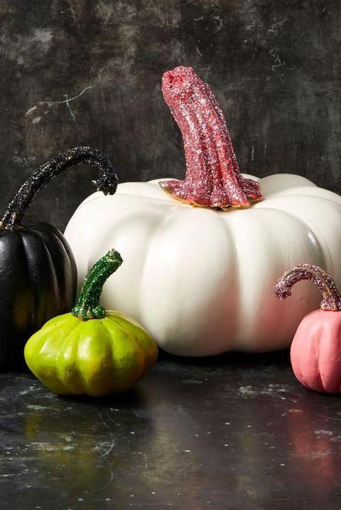 halloween party ideas glitter pumpkins
