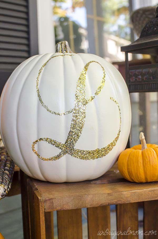 glitter pumpkins monogram