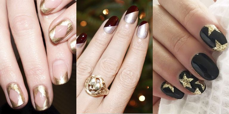 glitter is the perfect way to spice up any nail design and make it instantly festive with these 20 manicure design ideas theres a shimmery - Nail Design Ideas