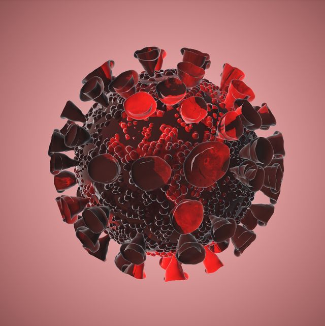 global earth spin and fade to red and covid 19 coronavirus sign