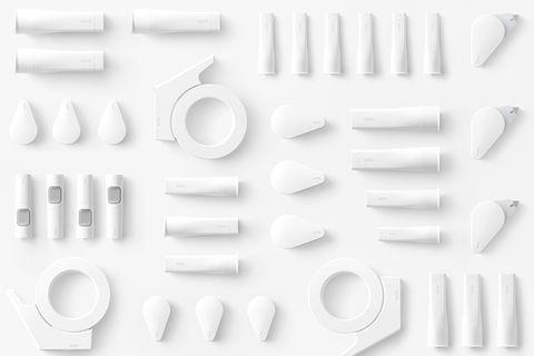 超小又超黏!日本 Nendo 設計「純白色」GLOO文具,一系列「黏貼工具」絕對是書桌上最好用小物!