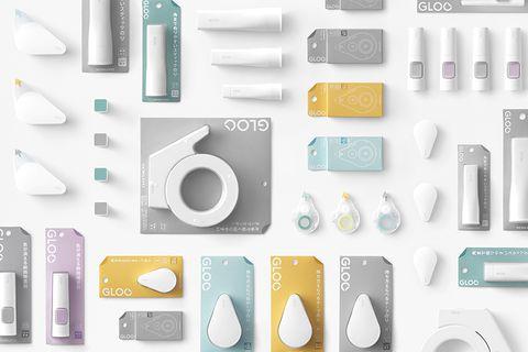 日本 Nendo 設計「純白色」GLOO 文具!一系列超迷你、簡約的黏貼工具,是書桌上的必備小物!