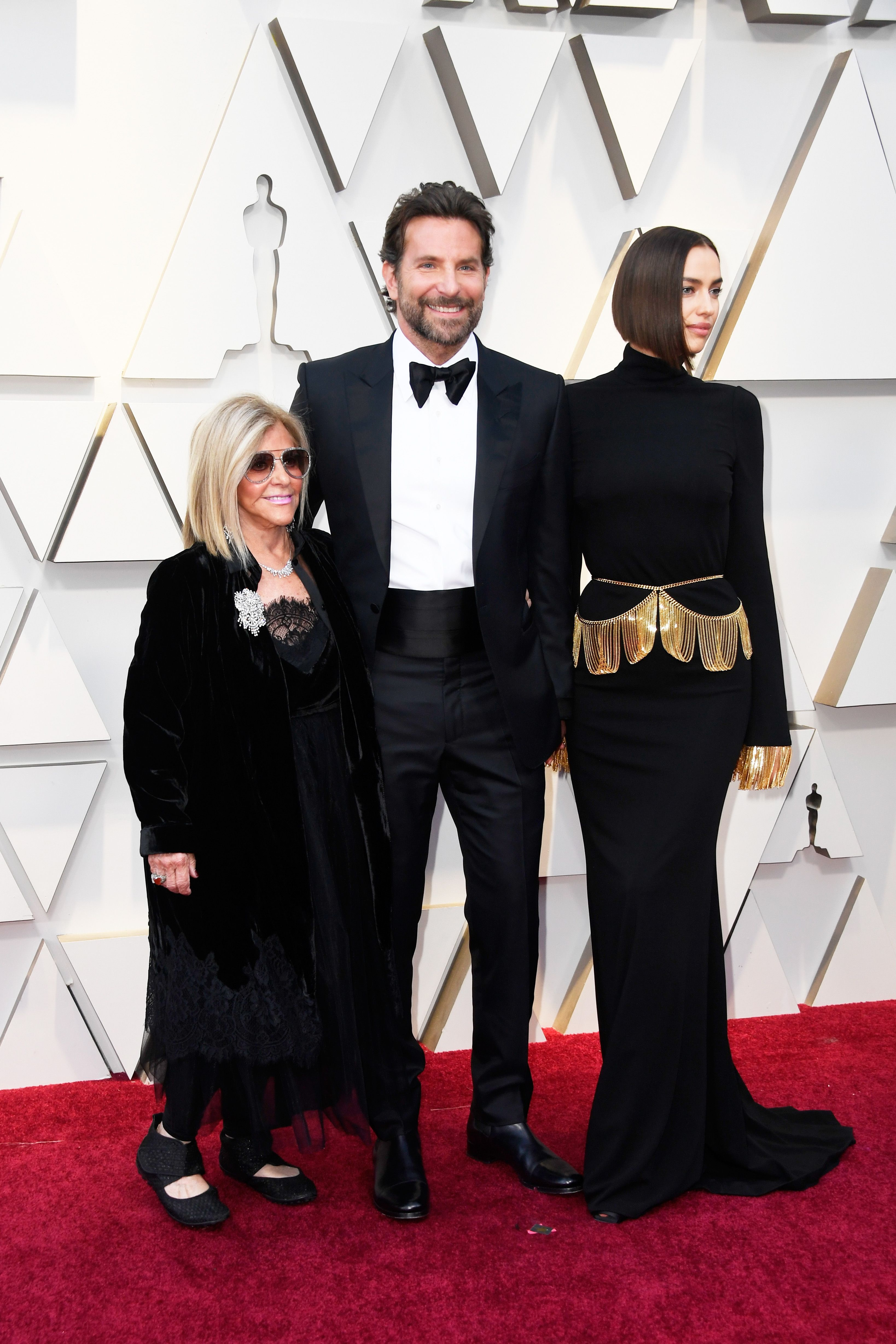 1ee9d355588 Bradley Cooper Brings Irina Shayk and His Mom to the Oscars