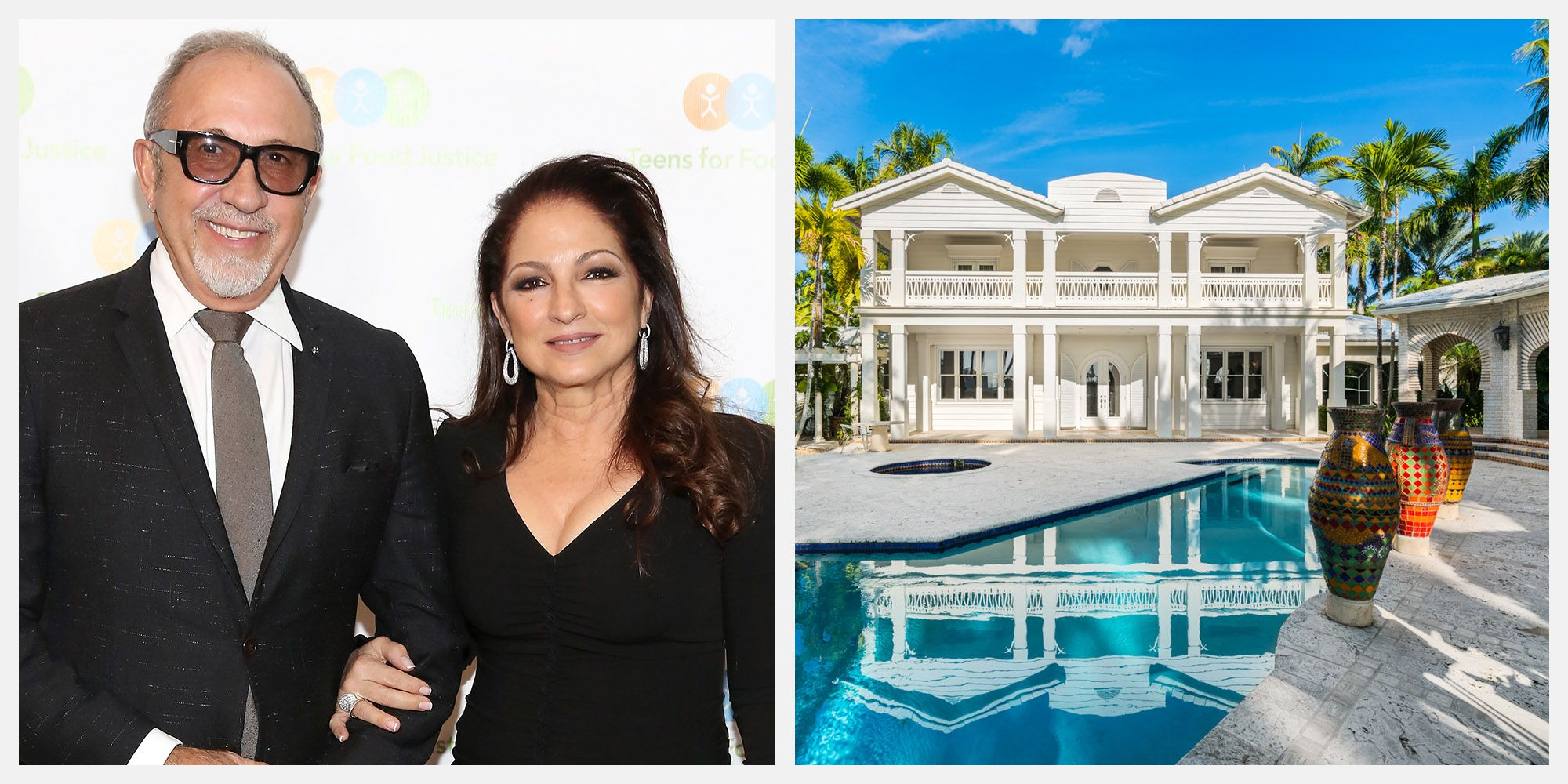 Musicians Gloria and Emilio Estefan List Their One Star Island Miami Guest Estate for $32 Million