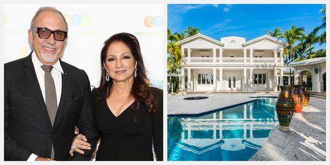 Musicians Gloria and Emilio Estefan List Their One Star Island Miami Guest Estate for $32 Million