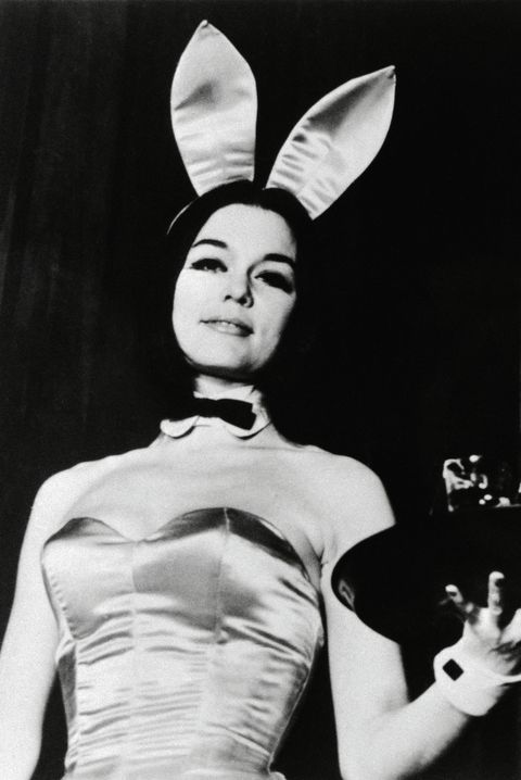 Gloria Steinem Wearing Playboy Bunny Costume