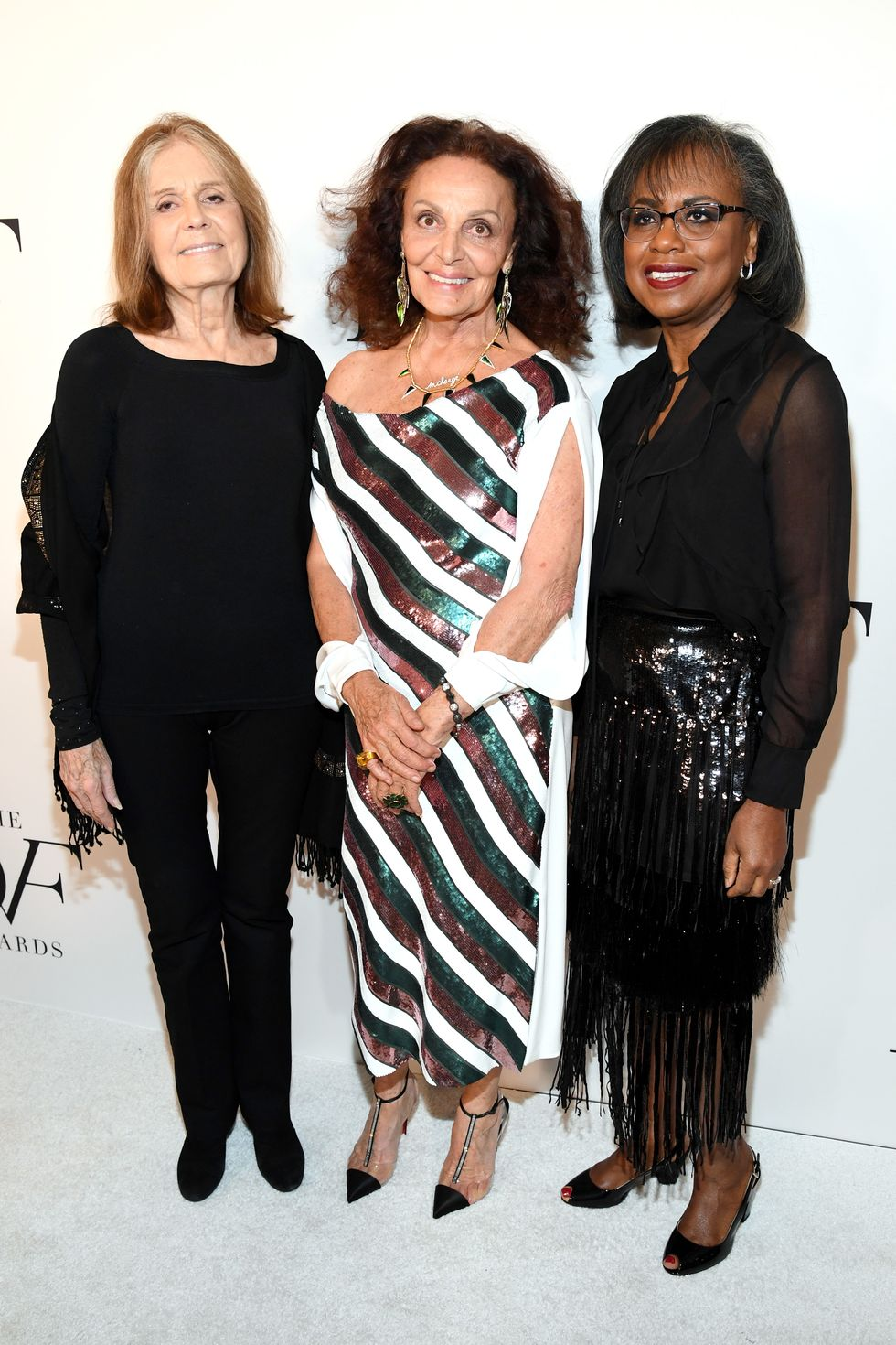 Gloria Steinem, DVF, and Anita Hill