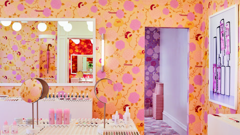glossier london pop up store