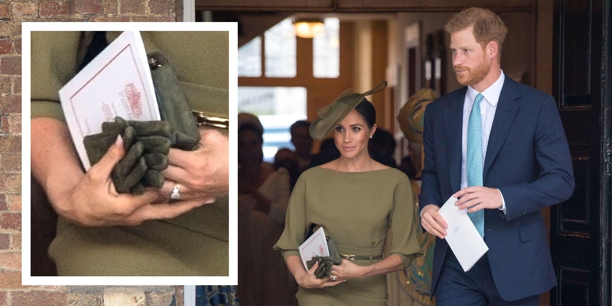 a25c80ad7 Meghan Markle Just Had Her First Royal Glove Moment at Prince Louis's  Christening
