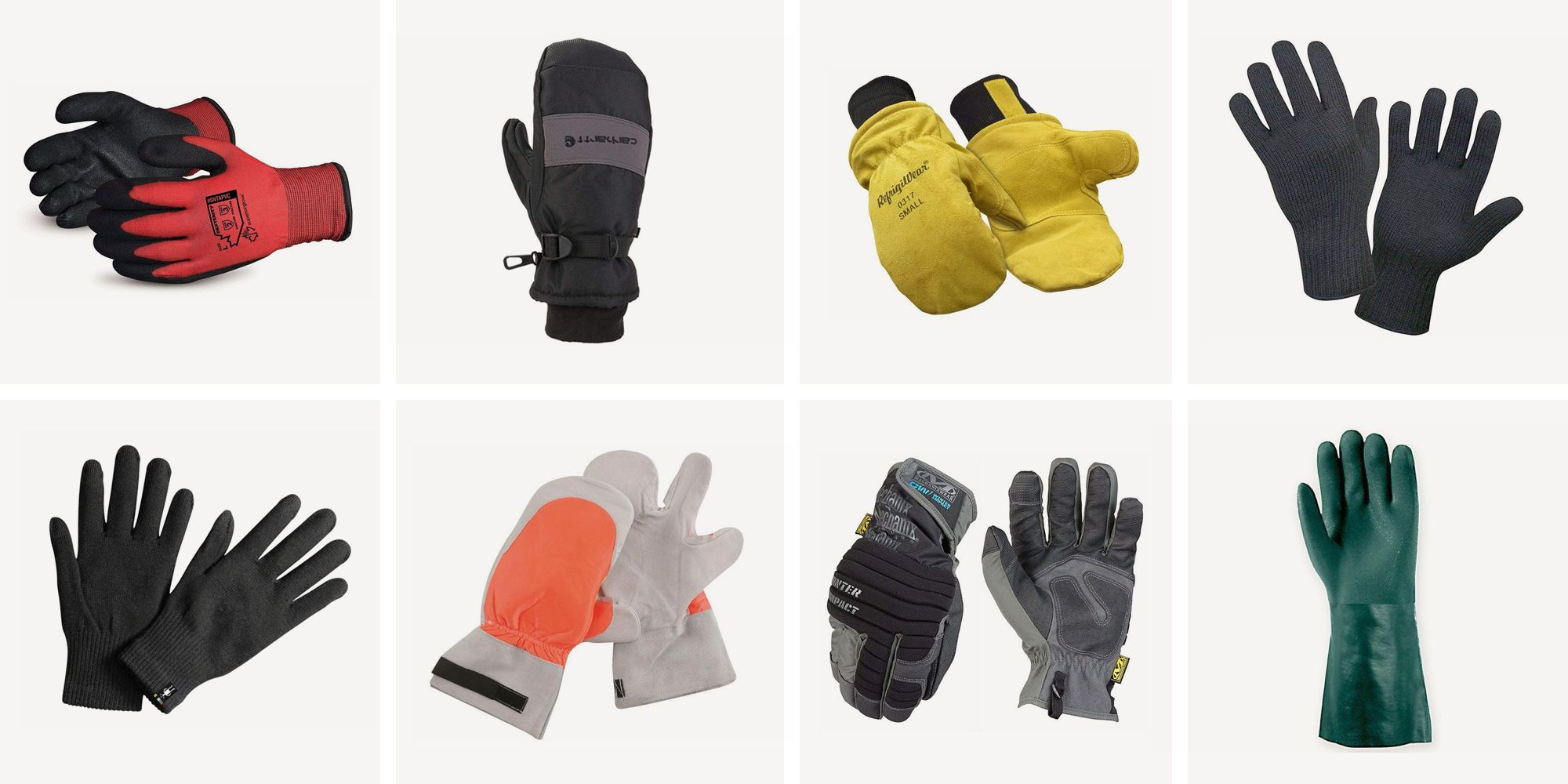 Heavy Welding Heat Insulation Protective Gear Safety Gloves Leather Work Gloves