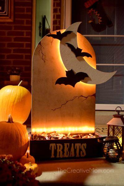 halloween candy holder outdoor decoration