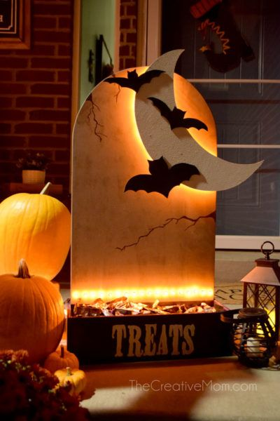 halloween candy holder outdoor decoration