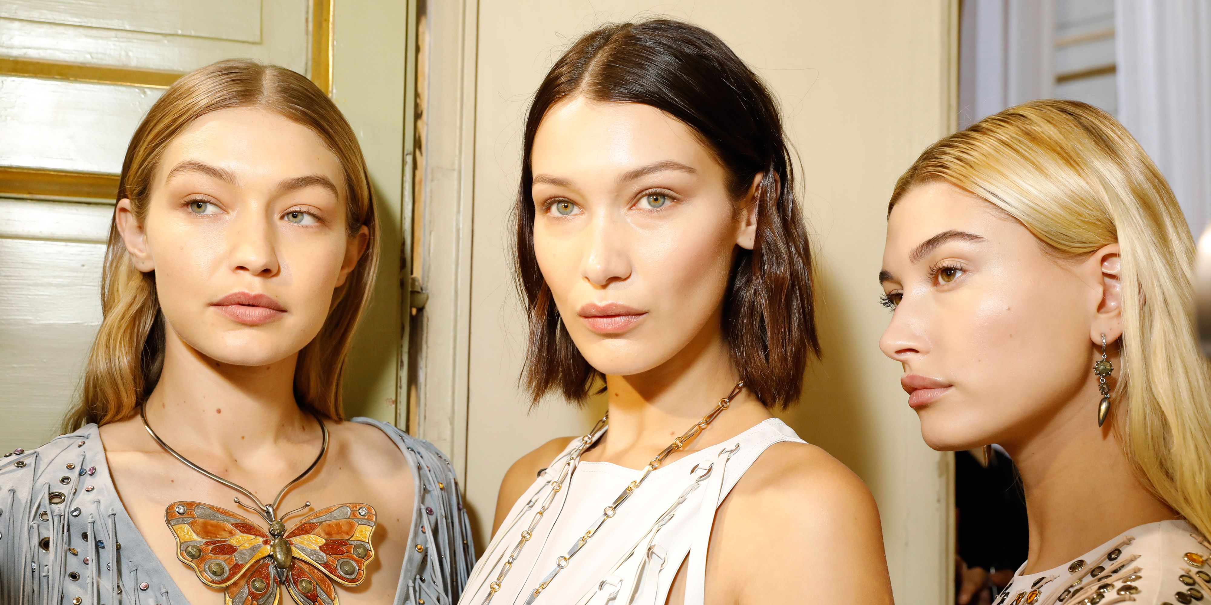Flawless skin The Hadid sisters