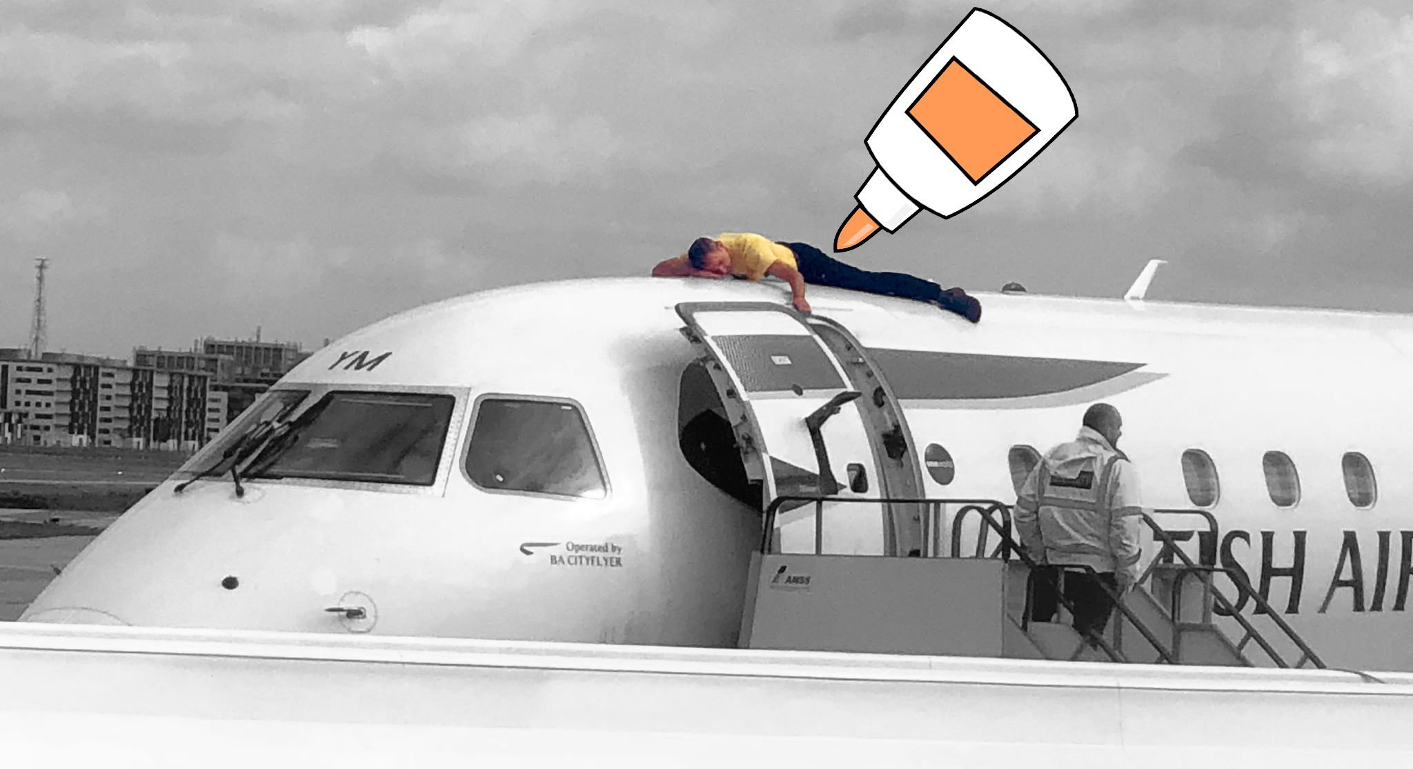 How to Glue Yourself to a Plane, According to Science