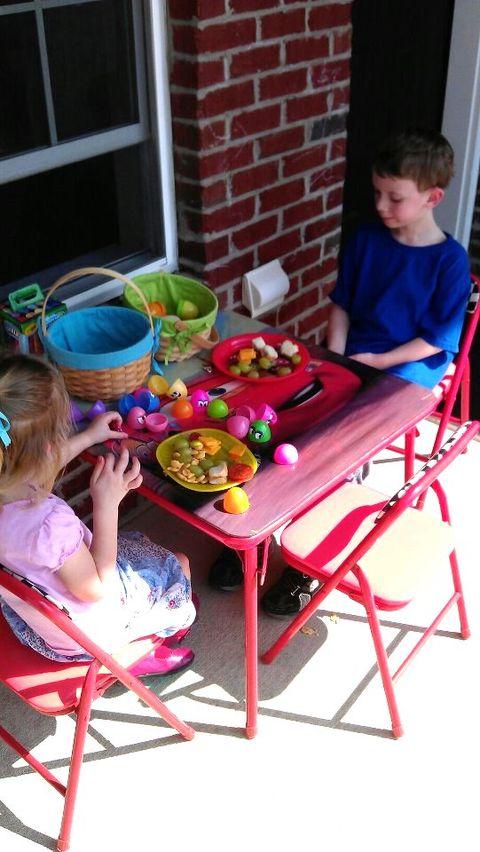 hunt for lunch easter eggs