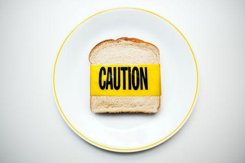 gluten and wheat allergy caution