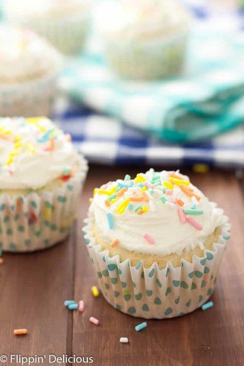 Food, Buttercream, Cupcake, Icing, Sprinkles, Dessert, Cuisine, Dish, Muffin, Baking,
