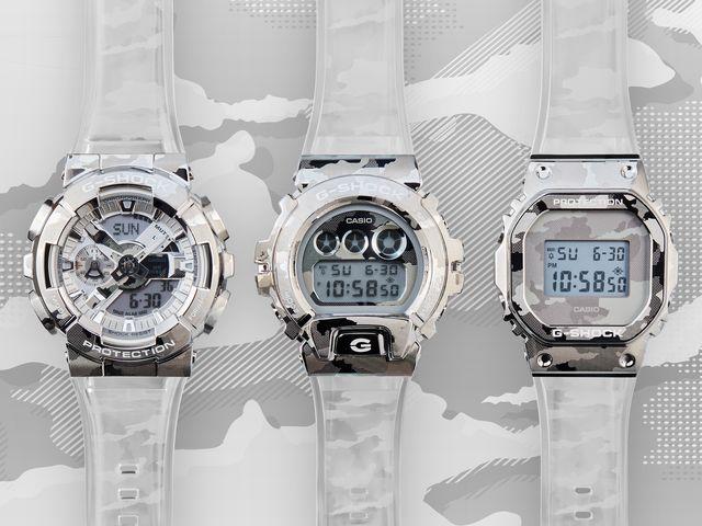 g shock transluscent metal bezel watches