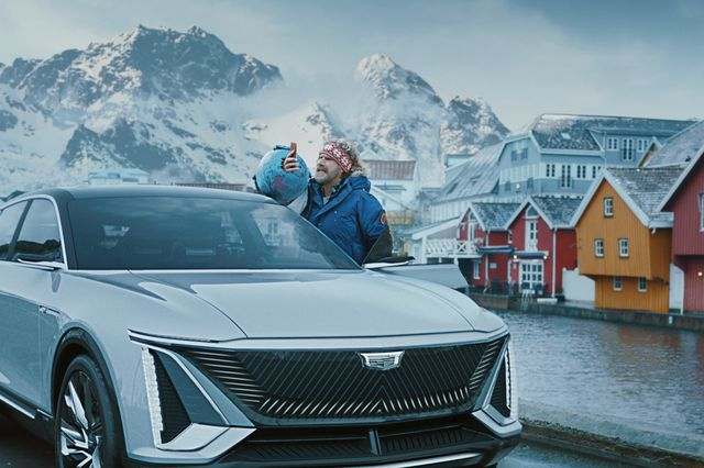"""general motors' big game ad stars will ferrell, who discovers norway far outpaces the united states in electric vehicle adoption in the commercial, """"no way, norway,"""" kenan thompson and awkwafina join ferrell on his action packed journey to give norwegians a piece of his mind"""