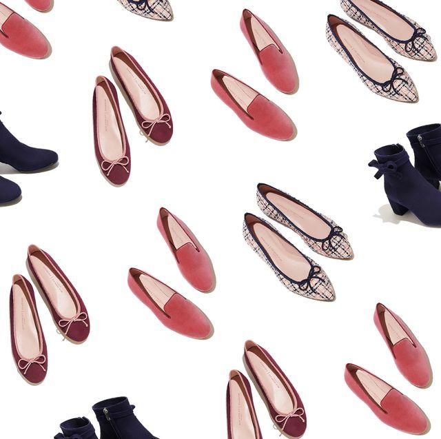 Red, Fashion, Dress shoe, Leather, Ballet flat, Dancing shoe, Retail,