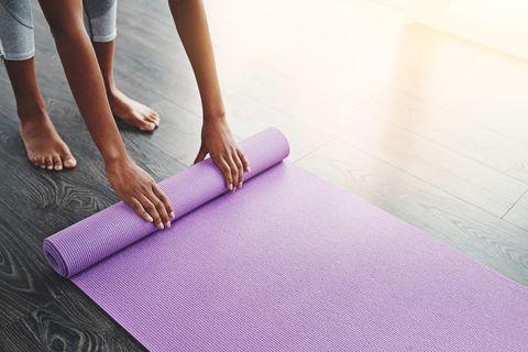 i go everywhere with my yoga mat
