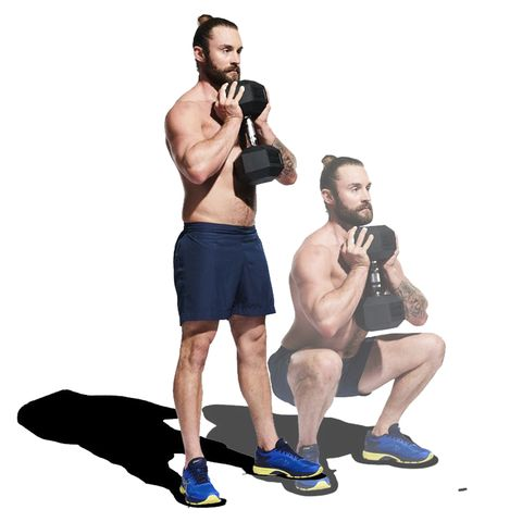 Weights, Exercise equipment, Shoulder, Arm, Standing, Kettlebell, Muscle, Dumbbell, Chest, Fitness professional,