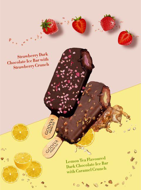 godiva 草莓脆碎黑巧克力雪糕