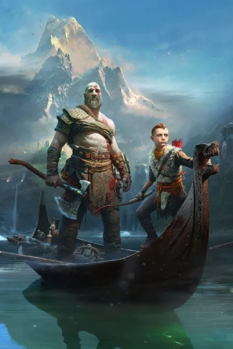 Action-adventure game, Cg artwork, Viking, Illustration, Boat, Vehicle, Mythology, Adventure game, Pc game, Watercraft,