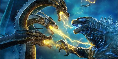 dos titanes se enfrentan en godzilla rey de los monstruos