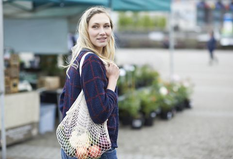 vrouw op de markt
