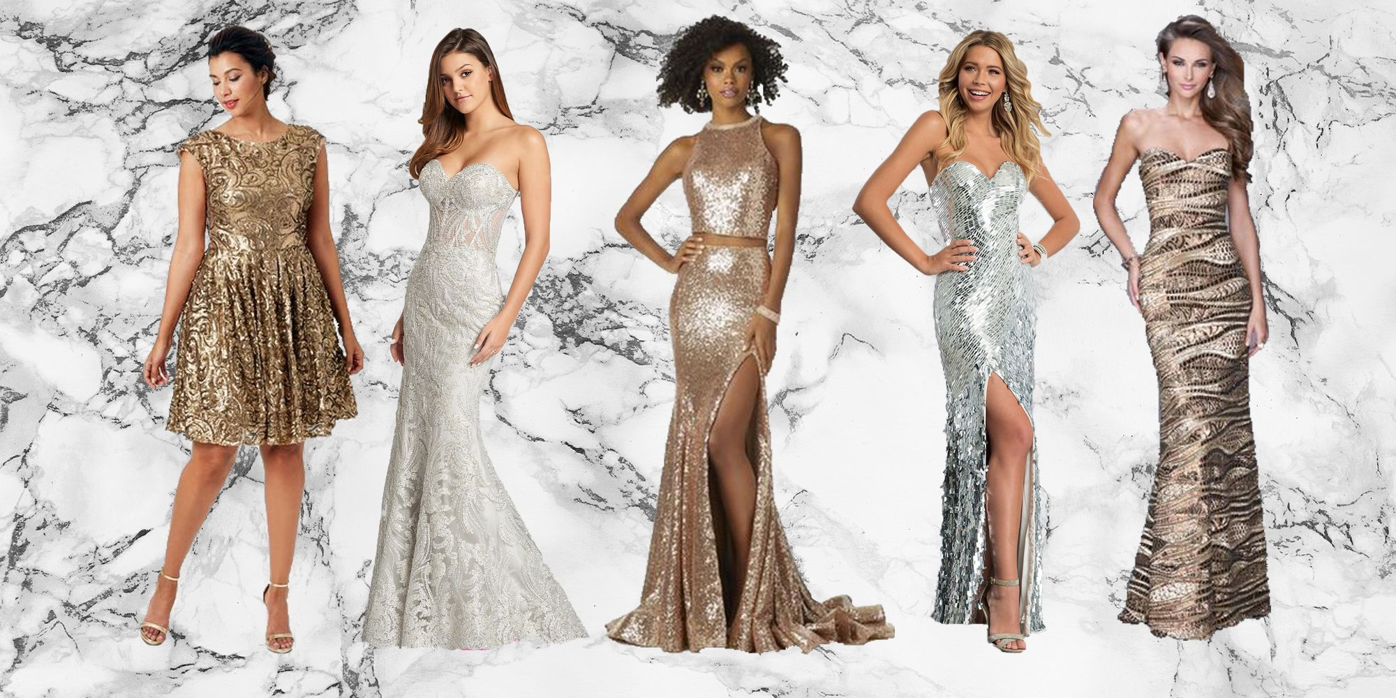 Extravagant Gold Pageant Dresses