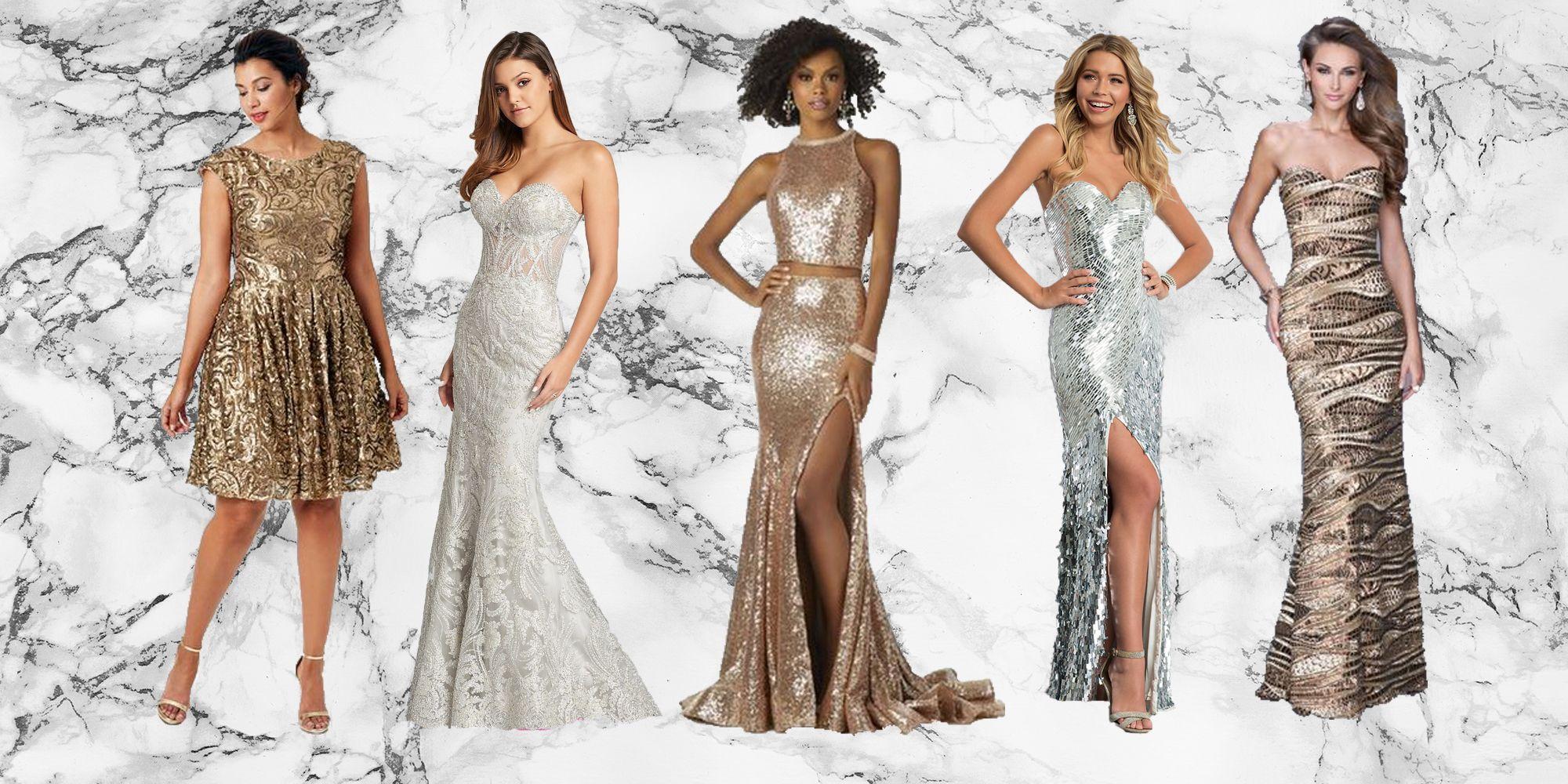 Silver Long Prom Dress 2018