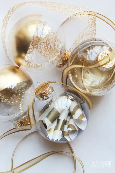 gold dipped diy ornaments