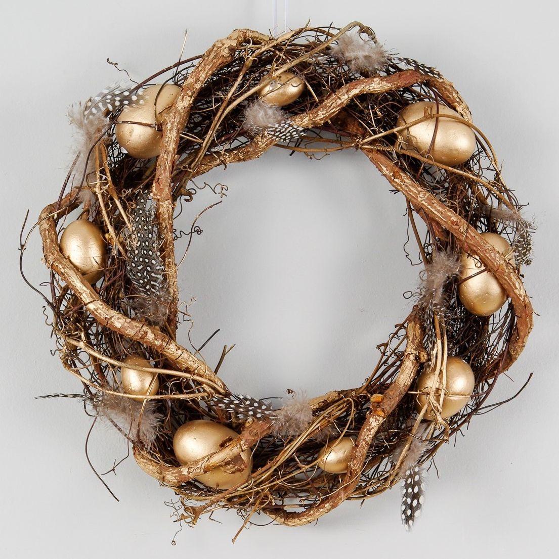 Gold Egg Easter Wreath