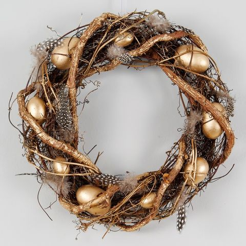 Gold Egg Easter Wreath