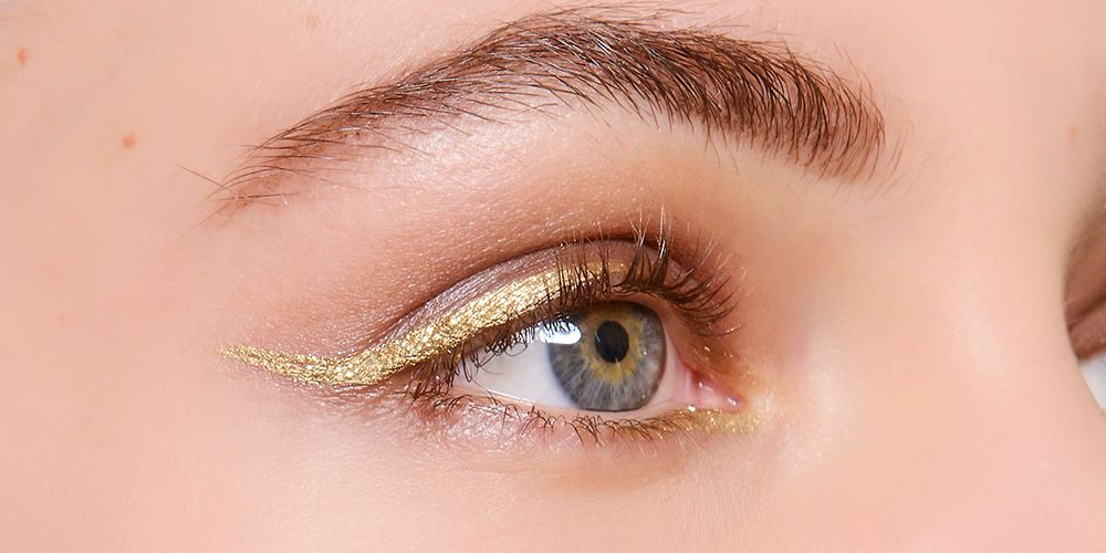 7 Ways To Wear Gold Eyeliner Party Season Eye Make Up Ideas