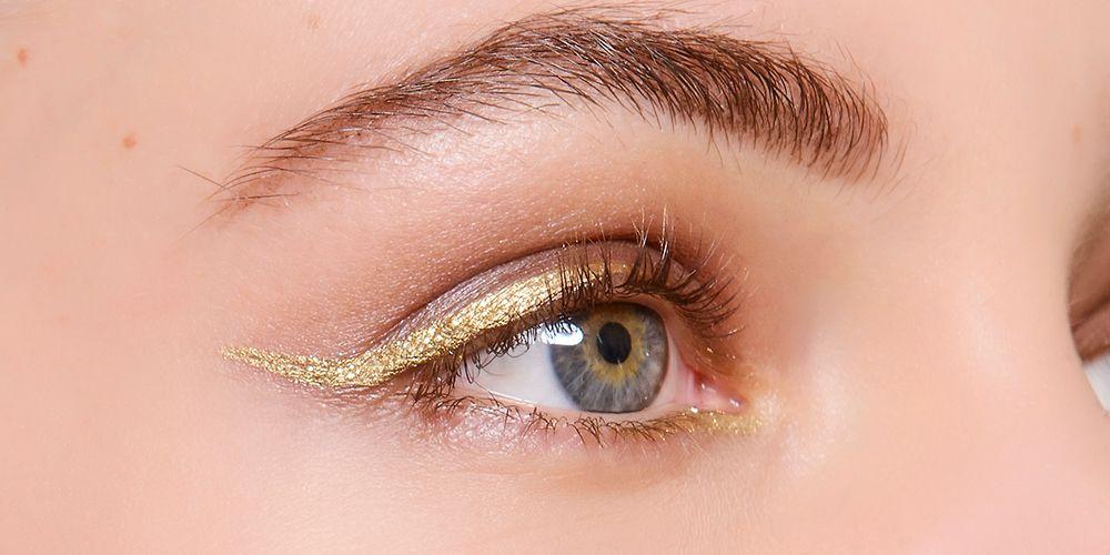 7 Ways To Wear Gold Eyeliner Party Season Eye Make Up Ideas