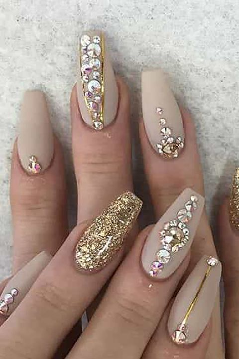 gold goddess - Best Gel Nail Design - Trendy Gel Nail Design Ideas