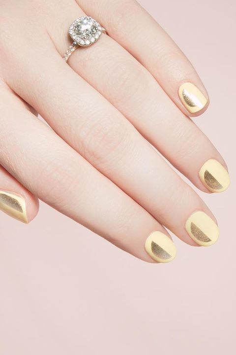 Nail, Manicure, Finger, Nail polish, Nail care, Cosmetics, Hand, Ring, Fashion accessory, Material property,