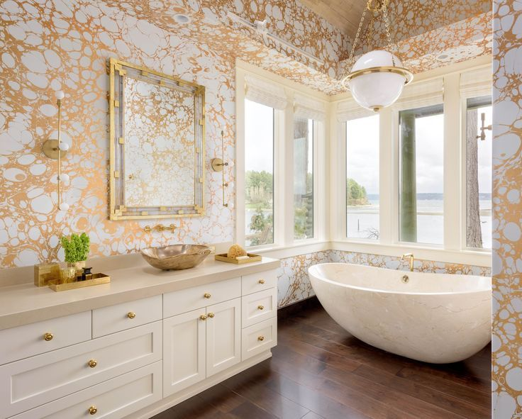 15 Gold Wallpaper Ideas For Design Risk Takers