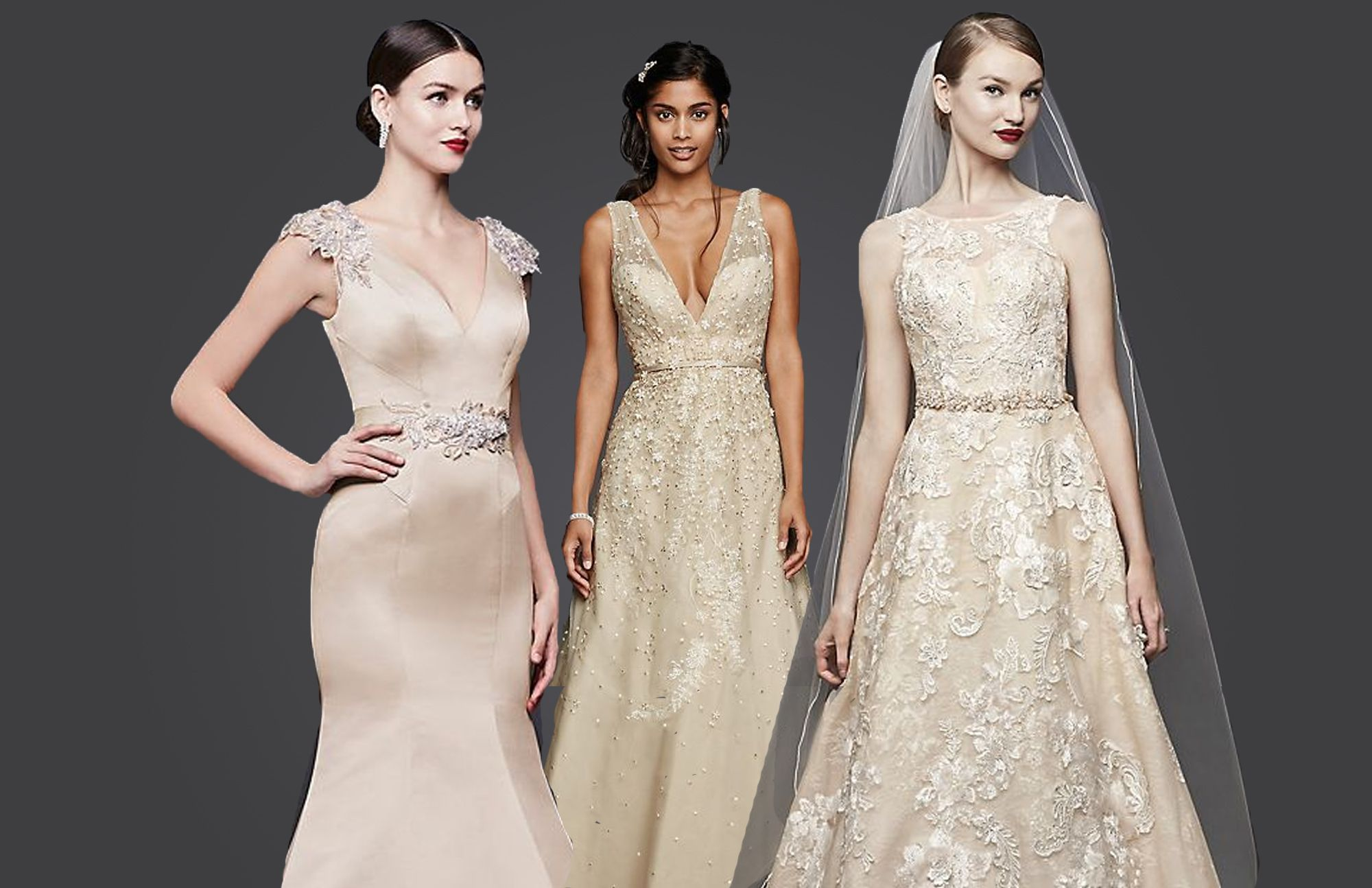 Champagne Gold Wedding Dress