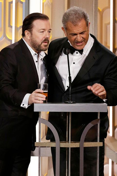 Golden Globes Most Awkward Moments Ever - Ricky Gervais and Mel Gibson